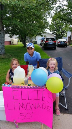 Sweet lemonade stand on the way from Antigonish to New Glasgow
